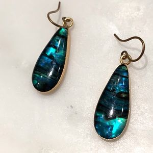 Anthropologie earrings made of original Paua 🇳🇿